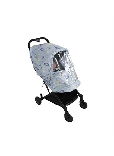 Sevi Bebe Sevi Bebe Desenli Lüks Bebek Arabasi Yagmurlugu Renkli